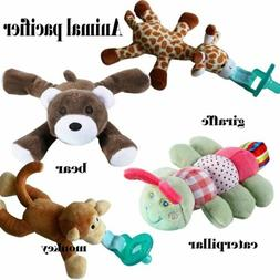 New Kid Baby Animal Pacifier Holder Hanging Removable Plush