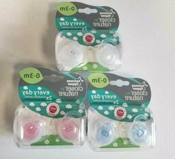 Tommee Tippee Pacifiers Orthidontic 0-3 Months Baby Lot of 3