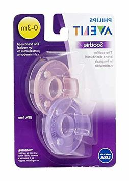 Philips Avent Soothie Pacifier, Pink/Purple, 0-3 Months, 2 C