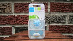 NEW MAM Pearl Orthodontic Silicone Pacifier 6+ Months Blue C