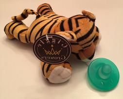 New Plush Toy Stuffed Animal Tiger Soothing Baby Pacifier