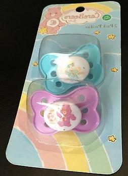 NEW  Care Bears Baby BPA Free Pacifiers purple/aqua