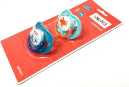 NEW SET OF 2 KIDGETS FOX WHALE SILICONE PACIFIER BINKY 0+ MO