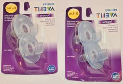 New PHILLIPS AVENT Soothie BPA Free Pacifier 2x 2-PACKS  0-3