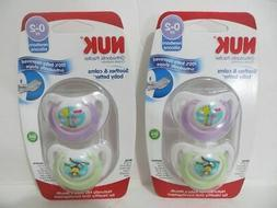 Nuk Newborn Baby Orthodontic Silicone Pacifiers Girl 0-2 Mon