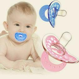 Newborn Orthodontic Dummy Pacifier Silicone Teat Nipple Soot