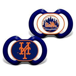 New York Mets Set of 2 Pacifiers Made in The USA for 3 Month