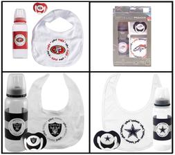 NFL Kickoff Collection 3 Piece Infant Gift Set Bib Pacifier