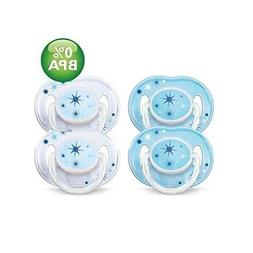 Avent Night Time Pacifiers - 4 pk