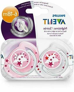 Philips Avent Glow in the Dark Orthodontic Pacifier, 6-18 mo