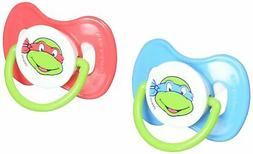 Nickelodeon Ninja Turtles Pacifier with Case, 2 Pack