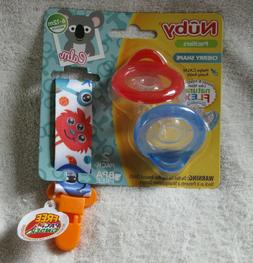 Nuby 2 Piece Natural Flex Silicone Cherry Shape Pacifier 6-1
