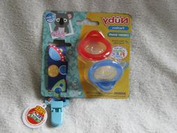 Nuby 2 Piece Natural Flex Silicone Cherry Shape Pacifier 0-6