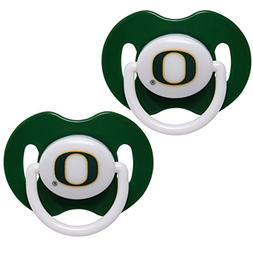Oregon Ducks Green Solid 2 pack of Baby Pacifiers 3 months a