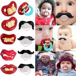 orthodontic baby infant newborn funny mustache pacifier