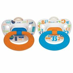 NUK Orthodontic Pacifier 0-6 Months Silicone Blue Orange Bab