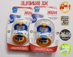 Nuk Orthodontic Pacifier 0-6 Months Silicone X2 BUNDLE   NEW