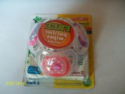 Nuby Orthodontic Pacifier 3 Pack BPA Free 6-12 Months Free P