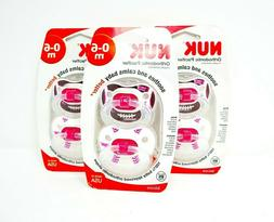 NUK Sports 2 Piece Orthodontic Pacifier, Girl, 0-6 Months
