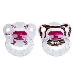 NUK Sports 2 Piece Orthodontic Pacifier, Girl, 18-36 Months