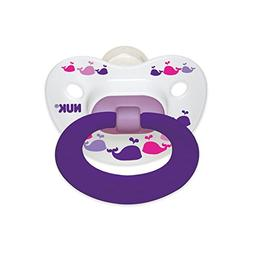 NUK 2 Piece Fashion Orthodontic Pacifier, 18-36 Months, Sili