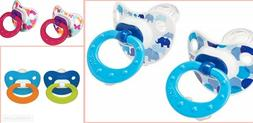 NUK Orthodontic Pacifier Silicone BPA Free Multicolor Red 6-