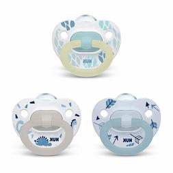 NUK 3-Piece Orthodontic Pacifier Value Piece, Boy, 0-6 Month