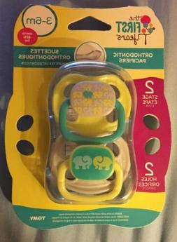The First Years Orthodontic Pacifiers 3-6m 2 Pack