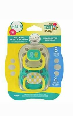 The First Years Orthodontic Pacifiers 3 Stage 6-18M BPA Free
