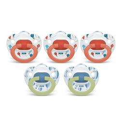 NUK Orthodontic Pacifiers, 6-18 Months, 5-Pack - Brand New!