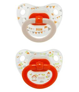 NUK 2-Piece Orthodontic Pacifiers, Girl, 18-36 Months