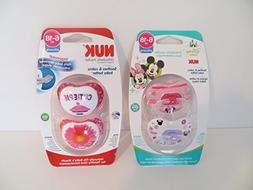 Nuk Orthodontic Pacifiers 6-18 mo  Minnie Mouse + Cutie Pie