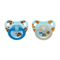 NUK 2-Piece Sports Orthodontic Pacifiers, Boy, 18-36 Months