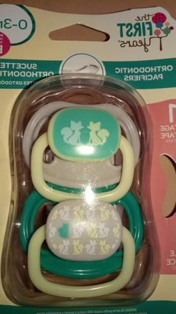 The First Years Orthodontic Pacifiers Stage 1 0-3 Months BPA