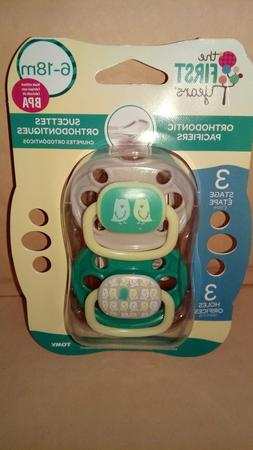 The First Years Orthodontic Pacifiers Stage 3 6-18  Months B