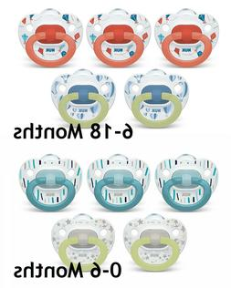 NUK Orthodontic Pacifiers Value Pack 0-6 / 6-18 Months  5-Pa