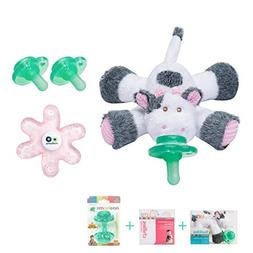 Nookums Paci-Plushies Cow Buddies Baby Gift Set - Includes P