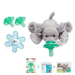 Nookums Paci-Plushies Elephant Baby Gift Set - Pacifier Hold