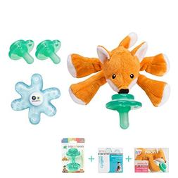 Nookums Paci-Plushies Fox Shakies Baby Gift Set - Includes P