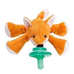 Nookums Paci-Plushies Fox Shakies- Pacifier Holder and Rattl