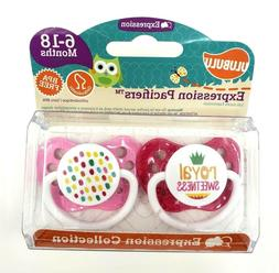 Ulubulu Pacifier, Royal Sweetness Girl, 6-18 Months