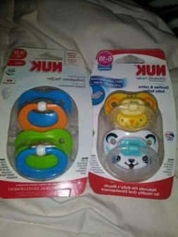 Nuk Pacifier 6 To 36 Months TWO IKN EACH PACKAGE