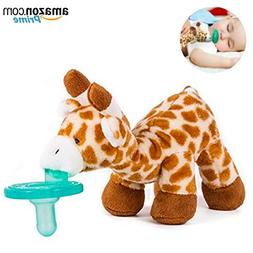 Baby Pacifier with Animal Attached - Stuffed Giraffe Soothie