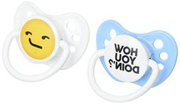 boy pacifier, how you doin' emoji, 6-18 months