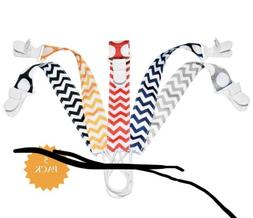 Pacifier Clip Pacifiers - 5 Pack Unisex 2-Sided Design Unive