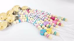 Pacifier clip Personalized binky holder Custom made Baby gir
