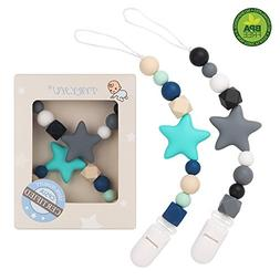 Pacifier Clip TYRY.HU Teething Silicone Beads Teether Toys B
