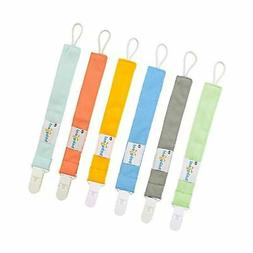 Babygoal Pacifier Clips for Boys, 6 Pack Pacifier Holder for