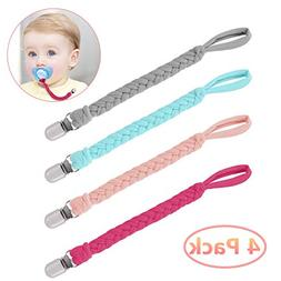 Pacifier Clips,Benewell Teething Ring Holders for Boys and G
