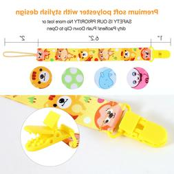 Pacifier Clips, Gimars Pacifier Clips 4 Pack Pacifier Holder